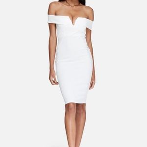 Missguided White Off the Shoulder Dress